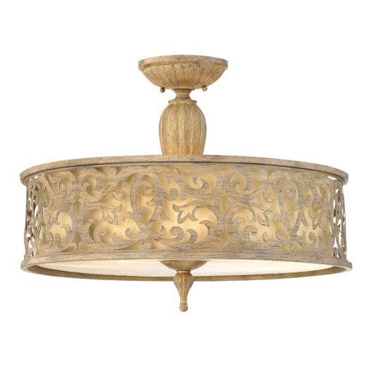 Elstead CARABEL mennyezeti lámpa antik bronz