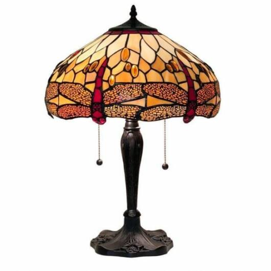Filamentled Dragonfly L Tiffany asztali lámpa