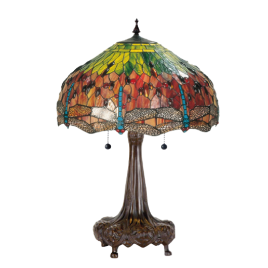Filamentled Dragonfly Tiffany asztali lámpa 2x60W