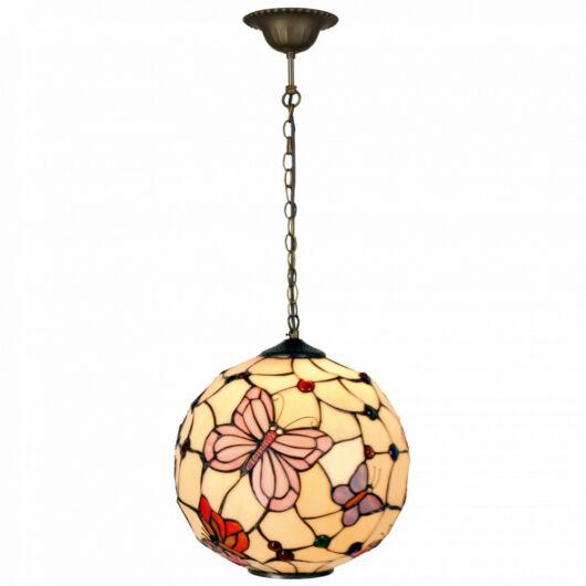 Filamentled Leeds Globe Tiffany függeszték 1x60W