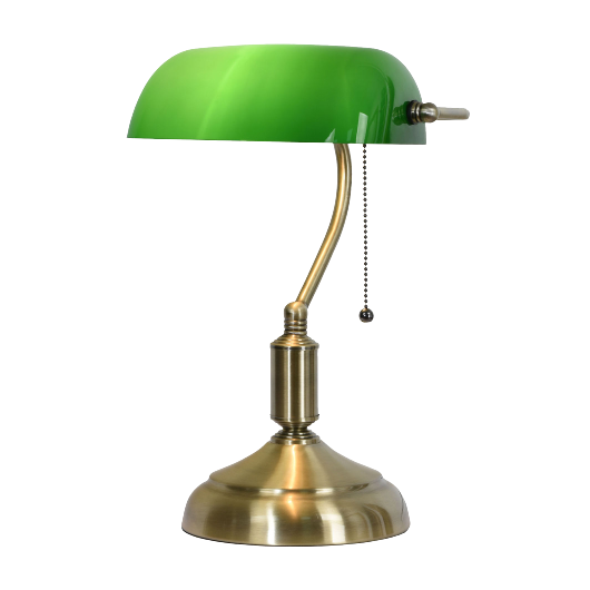 Filamentled Tiffany G 3 bankár lámpa 1x60W