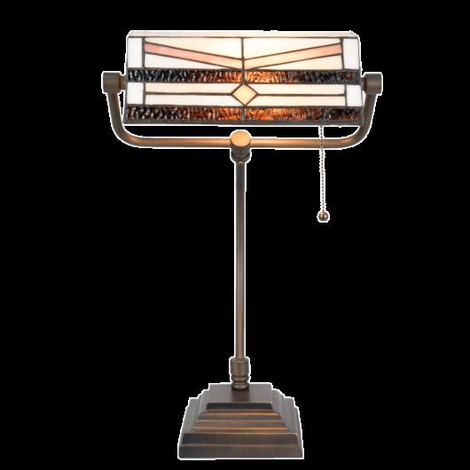Filamentled Lisburn Tiffany bankár lámpa