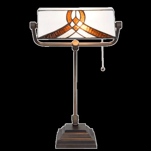 Filamentled Alfreton Tiffany bankár lámpa