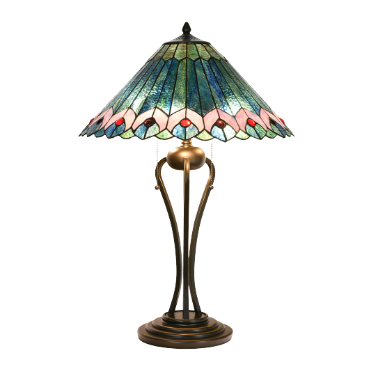 Filamentled Kyre Tiffany asztali lámpa