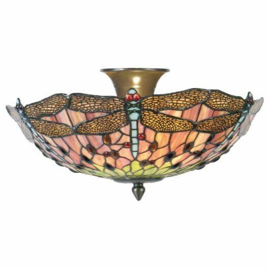 Filamentled Dragonfly Tiffany mennyezeti lámpa
