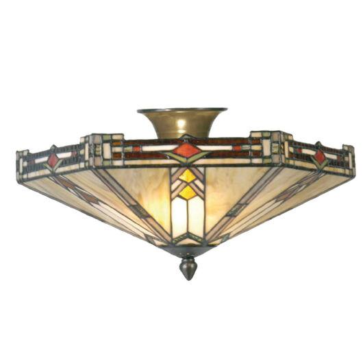 Filamentled Salen Tiffany mennyezeti lámpa