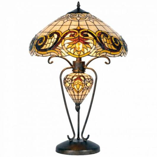 Filamentled Sauthery Tiffany asztali lámpa