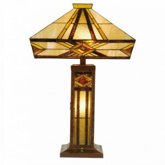 Filamentled Balfron Tiffany asztali lámpa