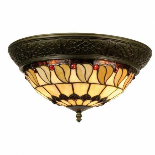 Filamentled Rovde Tiffany mennyezeti lámpa