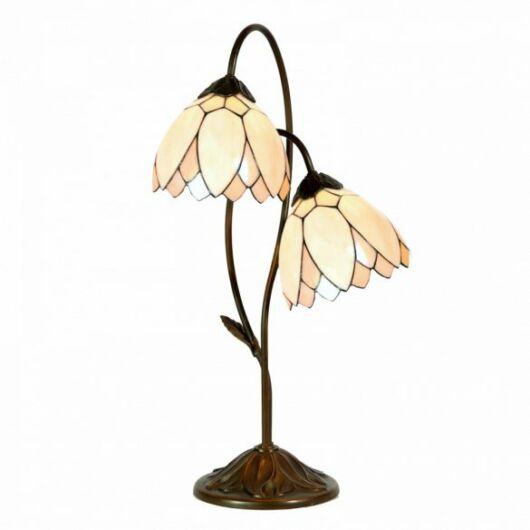 Filamentled Whitby Double Tiffany asztali lámpa