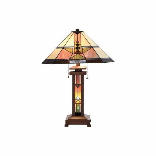 Filamentled Malpas Tiffany asztali lámpa