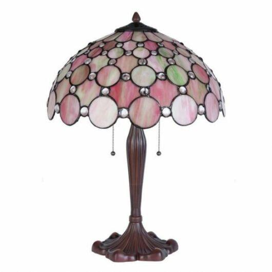 Filamentled Woodford Tiffany asztali lámpa