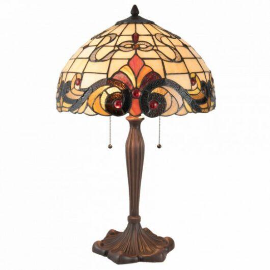 Filamentled Tibberton Tiffany asztali lámpa