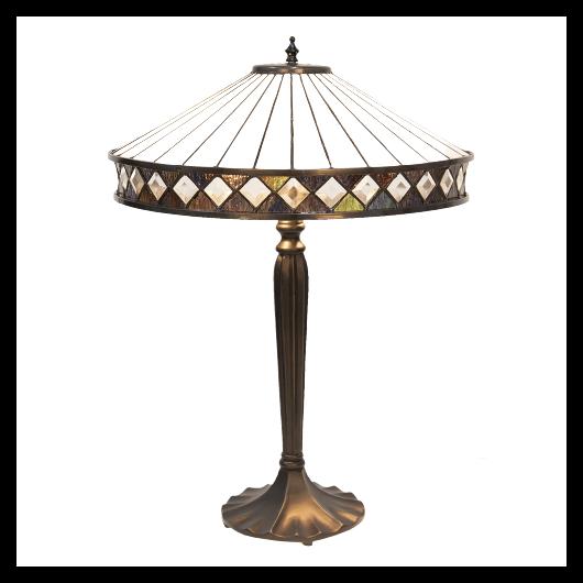 Filamentled Matlock L, Tiffany asztali lámpa -59 cm