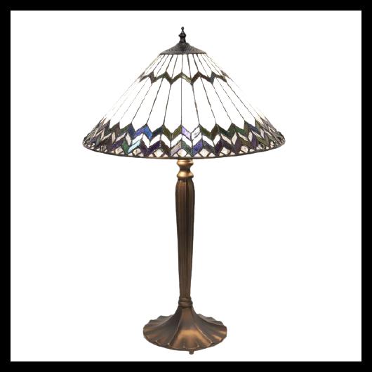 Filamentled Holton, Tiffany asztali lámpa - 62 cm