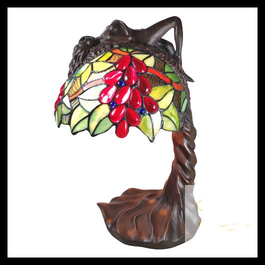 Filamentled Madeley M tiffany asztali lámpa 1x60W