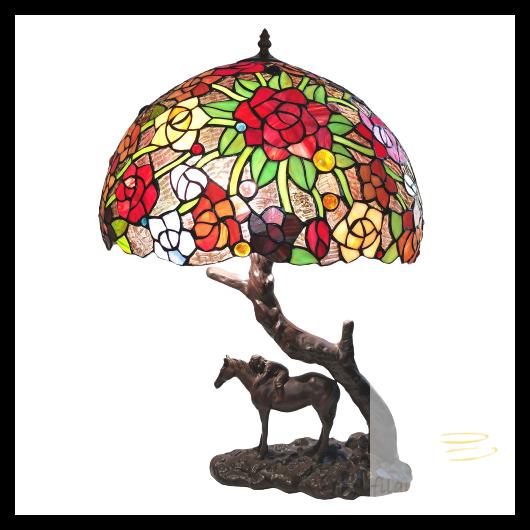 Filamentled Horse Tiffany asztali lámpa