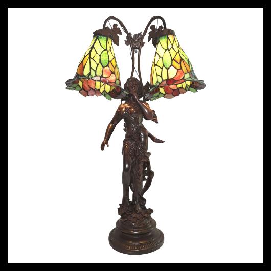 Filamentled Lenie Tiffany asztali lámpa  60W