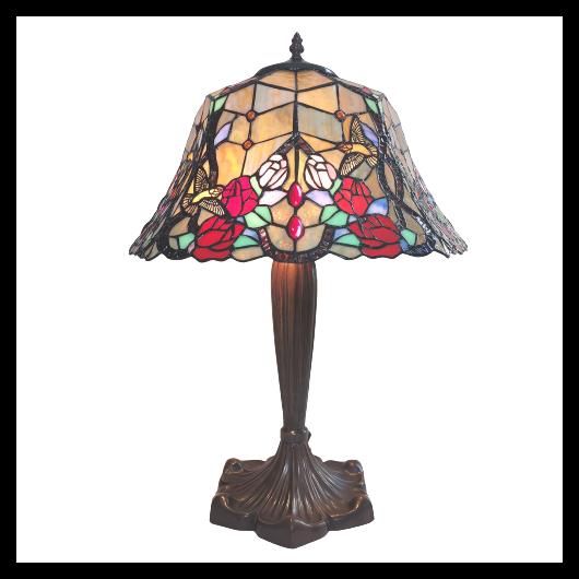 Filamentled Rose Tiffany asztali lámpa 2xE27