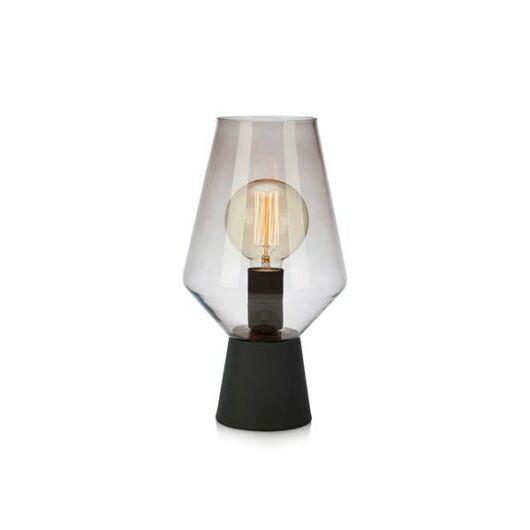MARKSLÖJD RETRO asztali lámpa fekete/füst üveg E27 1x60W