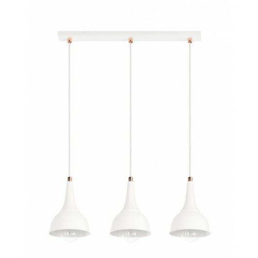 Fehér, fém mennyezeti 3 ágú lámpa-Alla