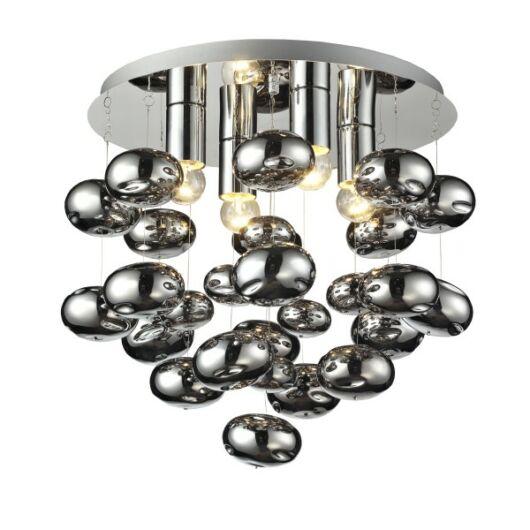 Modern króm mennyezeti lámpa 4-Tivoli