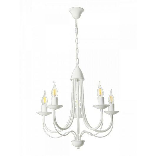 LAMPEX Csillár Candle 5 fehér