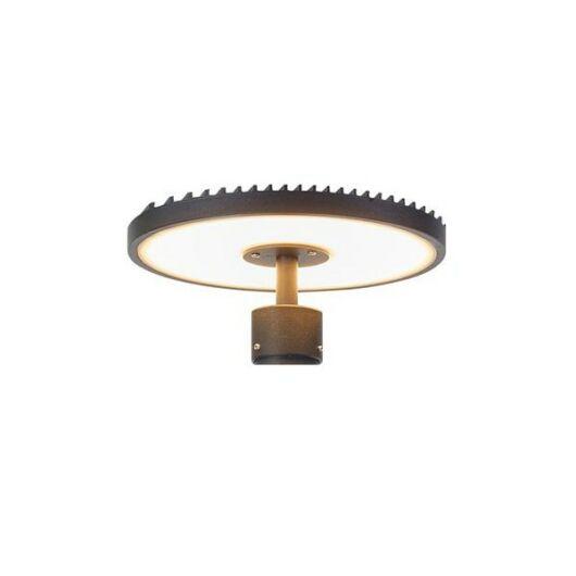 PLATE kültéri LED lámpafej ARTIC (107122) modellhez fekete/csiszolt 25W
