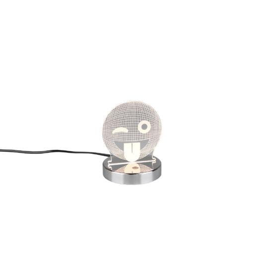 SMILEY asztali lámpa króm