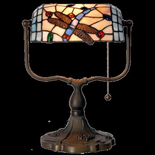 Filamentled Dragonfly Tiffany bankár lámpa