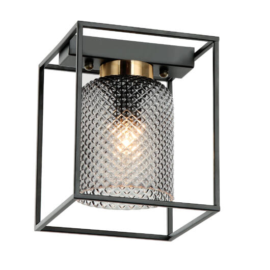 ZAC mennyezeti lámpa 40W fekete/füst szín