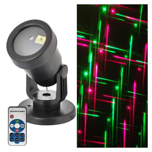 Karácsonyi lézer projector - programozható (piros, zöld vonalak)