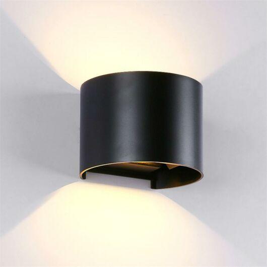 LED kültéri fali lámpa 2X5W 4000K IP54  fekete