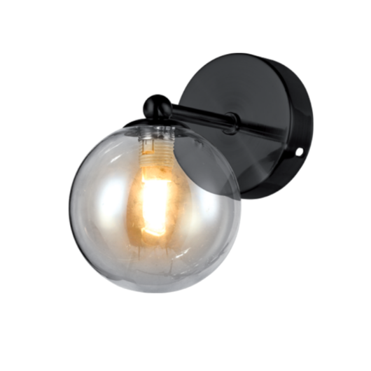 OLENA fali lámpa 1xG9 fekete