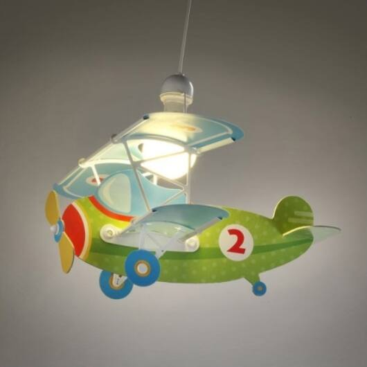 Dalber gyereklámpa - 'Baby Plane' zöld függeszték