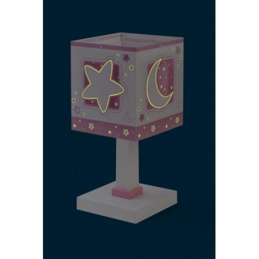 Dalber gyereklámpa - 'moonlight' rózsaszín asztali lámpa