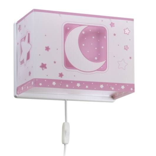 Dalber gyereklámpa - 'moonlight' rózsaszín fali lámpa