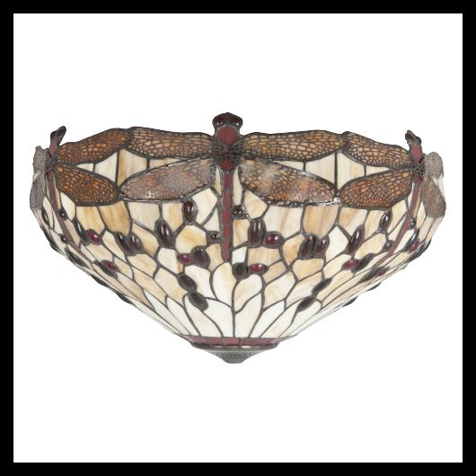 Filamentled Dragonfly W Tiffany mennyezeti lámpa