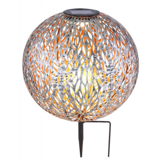 GLOBO solar gömb lámpa arany/szürke 27cm