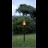 Kép 2/2 - FLAME kerti szolár fáklya fekete