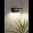 Kép 2/2 - Szolár fali lámpa fekete